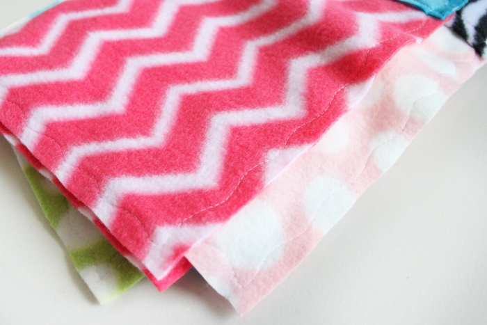 How to Make Fleece Blankets from Scraps
