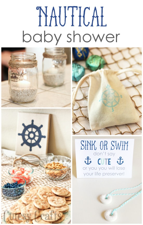 Diy Nautical Baby Shower Cutesy Crafts