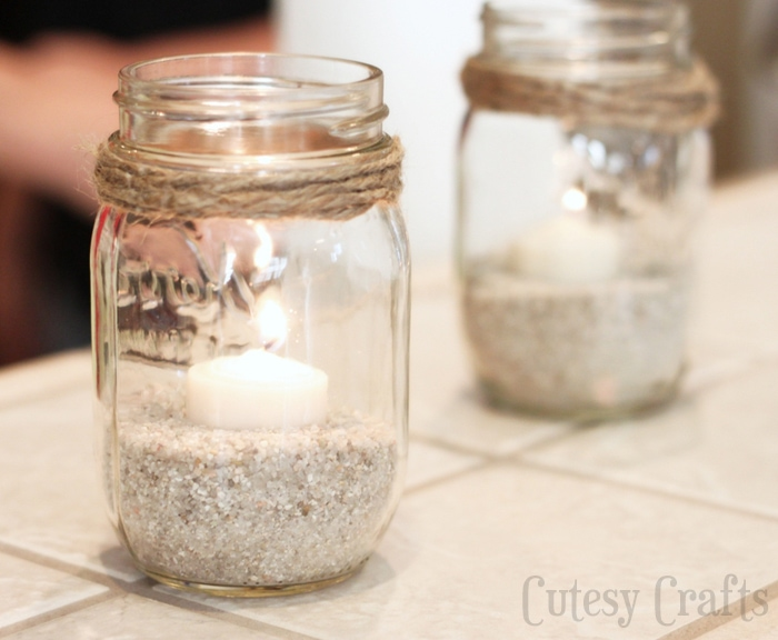 Nautical Mason Jar Candles