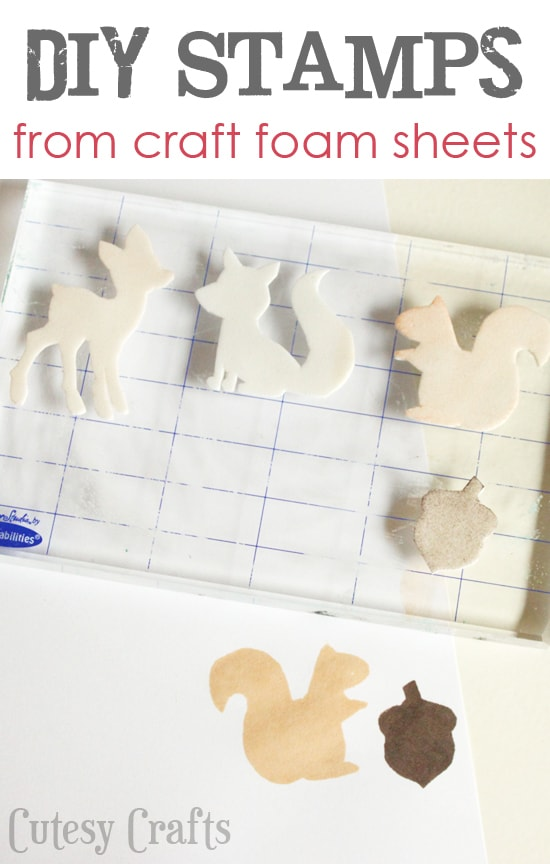How to make a stamp from craft foam sheets!