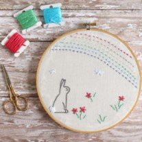 Easter Bunny Hoop – Free Embroidery Pattern