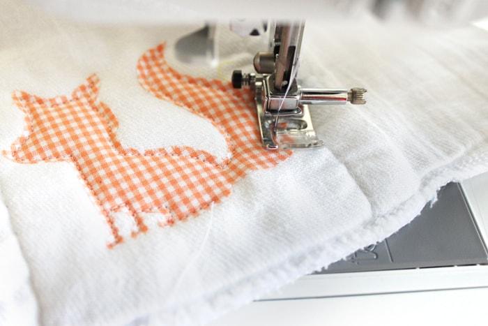 DIY Burp Cloths with Appliques
