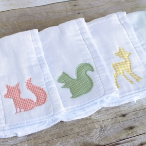 DIY Burp Cloths with Appliques