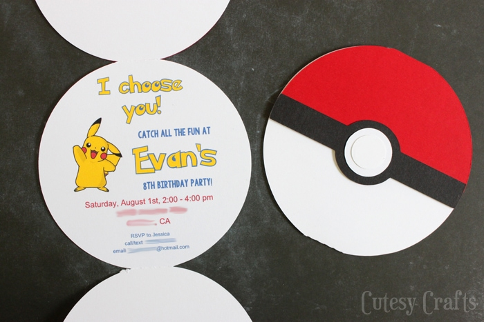 pokemon invitation template