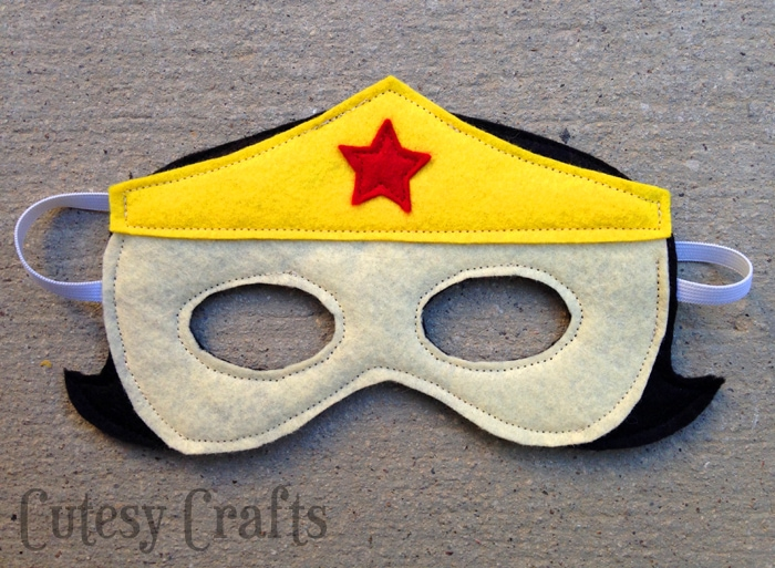 Girl Felt Superhero Mask Templates - Wonder Woman