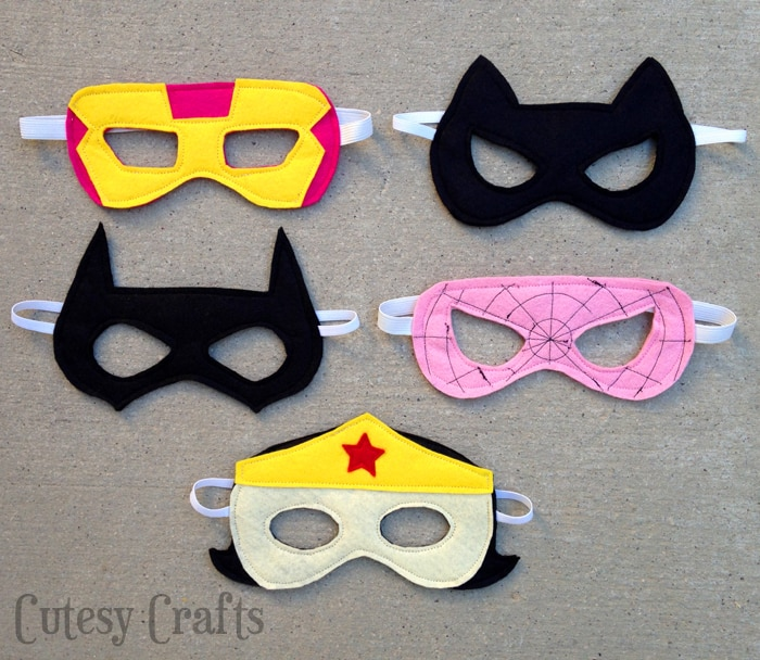 Felt Superhero Mask Templates  Cutesy Crafts