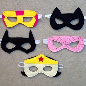 Girl Felt Superhero Mask Templates