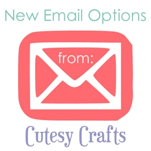 New Email Options