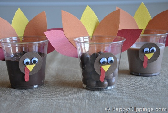 Thanksgiving Turkey Cups