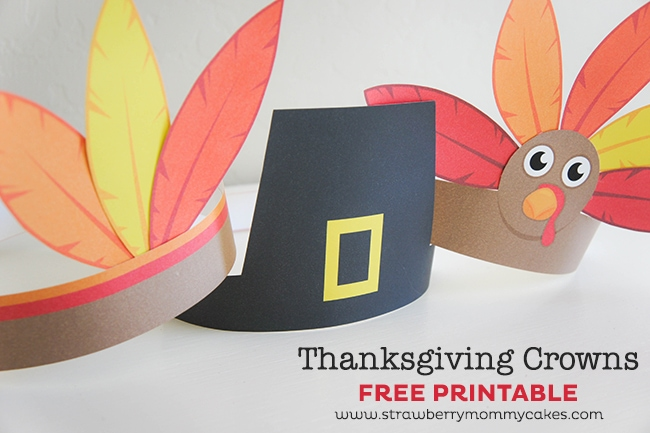 Printable Thanksgiving Crowns