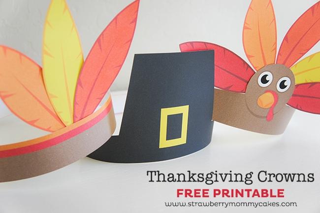 Printable Thanksgiving Crowns