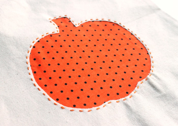 Reverse Applique DIY Trick-or-Treat Bags
