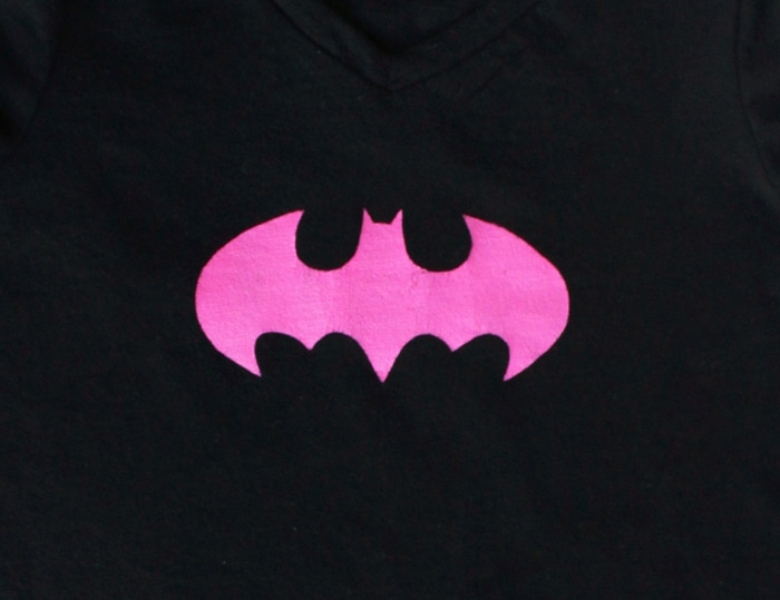 DIY Superhero Batgirl Shirt - Cutesy Crafts