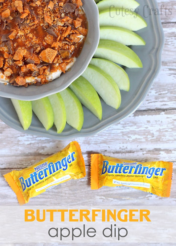 BUTTERFINGER® Apple Dip Recipe #ReinventSweet #ad