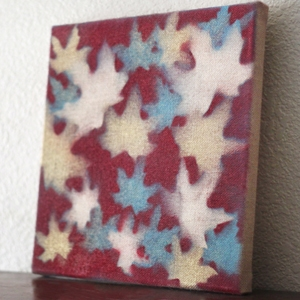 Fall Craft – Leaf-Stenciled Canvas