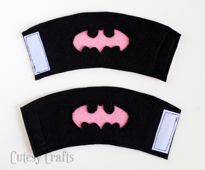 Felt Batgirl or Batman Superhero Cuffs