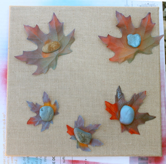 Fall Craft - Leaf-Stenciled Canvas