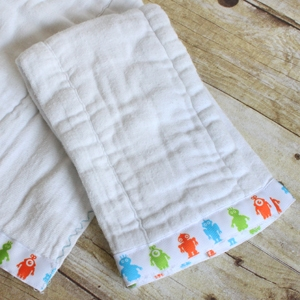 Ribbon Burp Cloth Tutorial