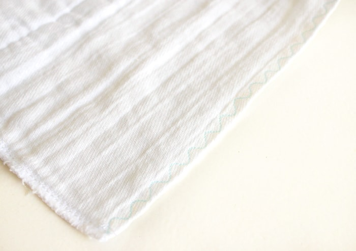Ribbon-Lined Burp Cloth Tutorial
