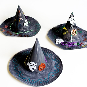 Halloween Craft for Kids – Paper Plate Witch Hat