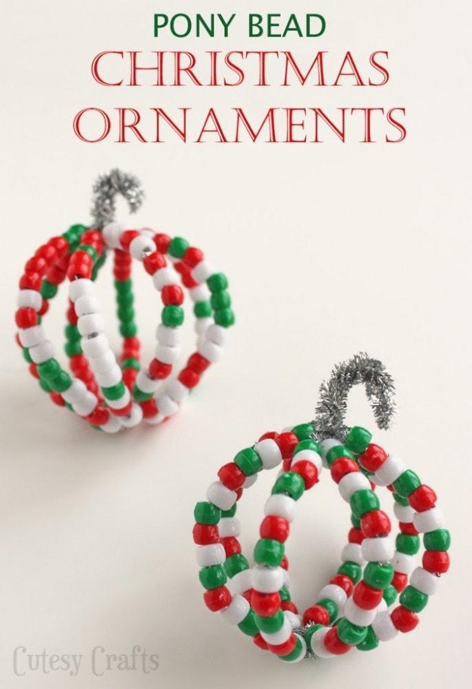 Pony Bead Ornaments