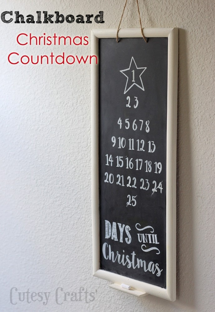 Chalkboard Christmas Countdown Tutorial #ad #ShopConsumerCrafts