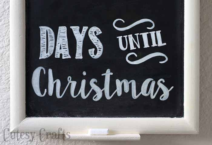 Days Till Christmas Chalkboard.Chalkboard Christmas Countdown Cutesy Crafts