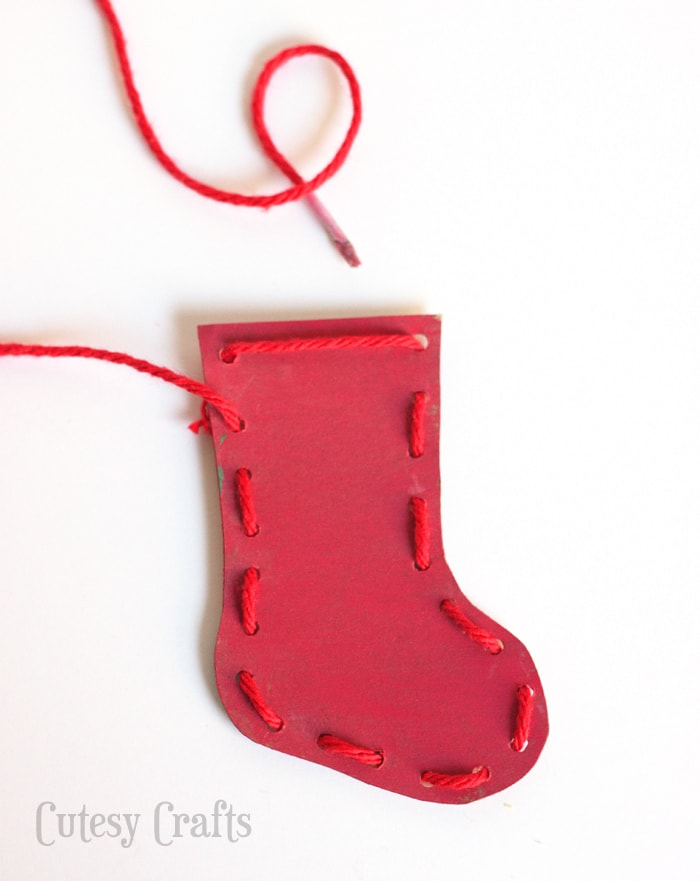 Christmas Stocking Craft Ideas Part - 25: Christmas Craft For Kids - Lacing Ornaments