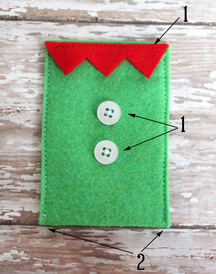 Felt Christmas Gift Card Holders Tutorial