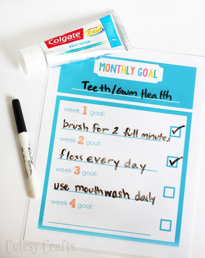 Small Steps to Make Healthy Changes - Printable Goals Sheet #DailyRepairDifference #ad