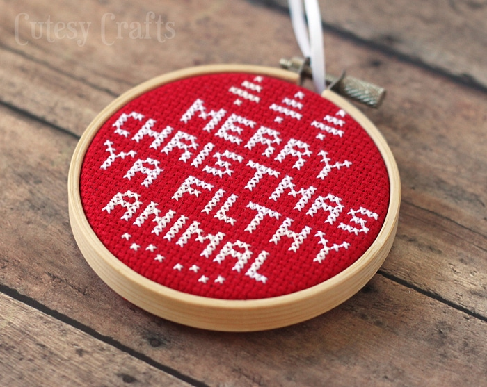 Home Alone Cross Stitch Ornament with Free Pattern