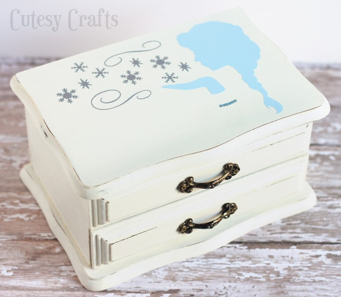 Thrifted Jewelry Box Makeover