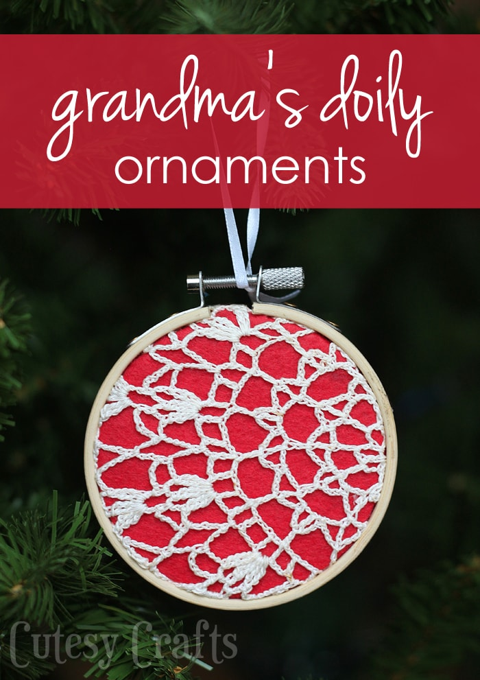 Homemade Christmas Ornaments from Grandma's Doilies