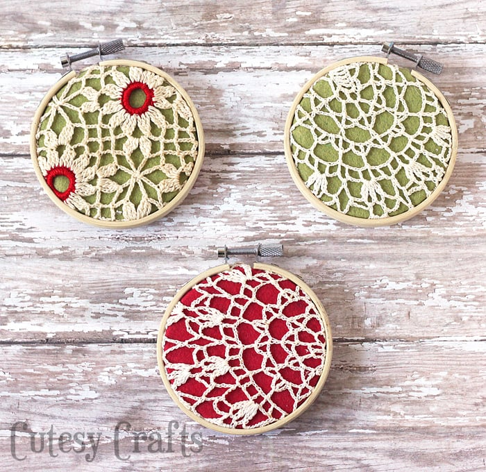 Homemade Christmas Ornaments from Grandma's Doilies