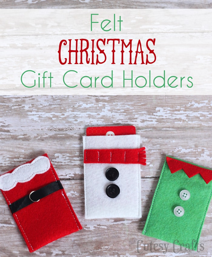 Felt Christmas Gift Card Holders - Cutesy Crafts