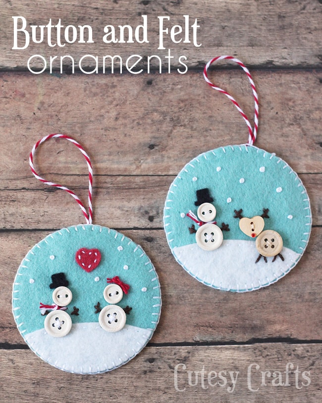 Easy Christmas Crafts To Sell.Button And Felt Diy Christmas Ornaments Cutesy Crafts