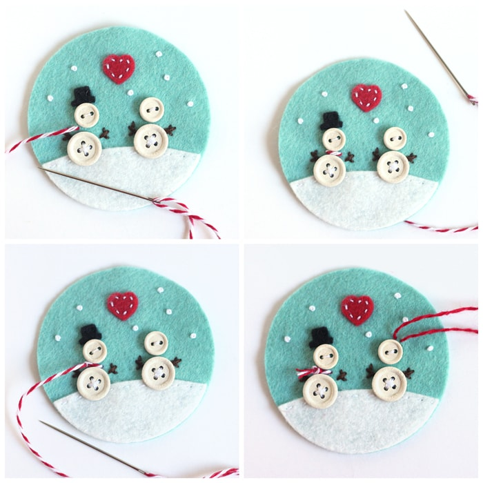 Button And Felt Diy Christmas Ornaments Cutesy Crafts