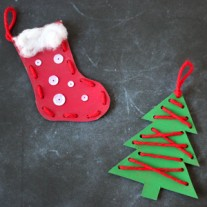 Christmas Craft for Kids – Lacing Ornaments