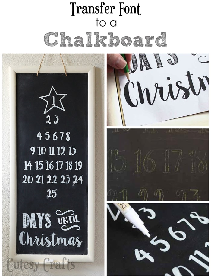 How to transfer font to a chalkboard. Easy! #ad #ShopConsumerCrafts