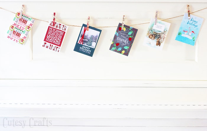 DIY Christmas Card Garland #SendHallmark #ad
