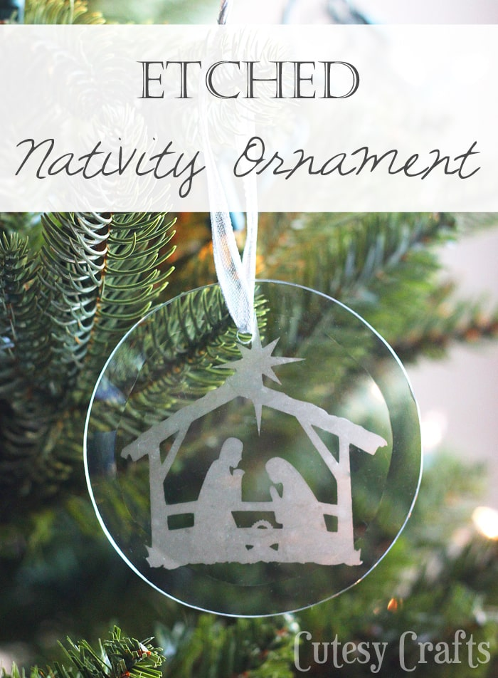 Etched DIY Nativity Ornament