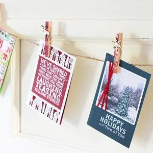 DIY Christmas Card Garland
