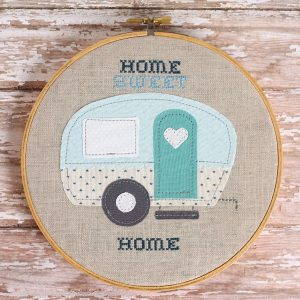 Home Sweet Home Trailer Embroidery Hoop