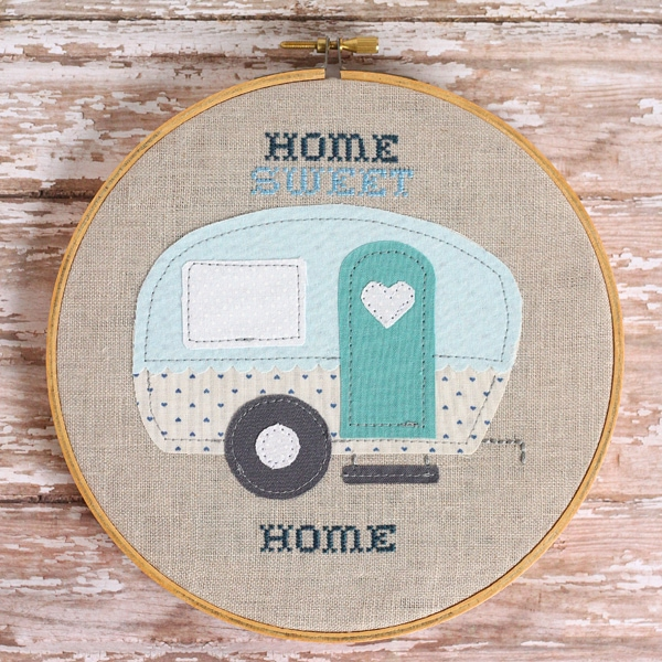 Camper embroidery pattern