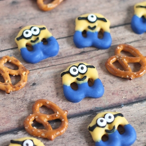 Minions Movie Pretzel Treats