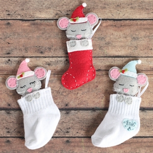 Baby Sock DIY Christmas Ornaments