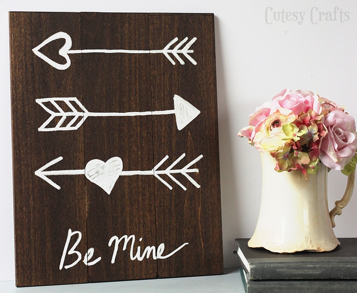 DIY Valentine's Day Arrow Art