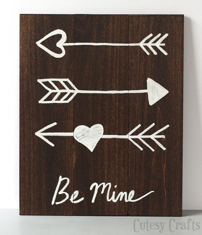 Diy Valentine 39 S Day Arrow Art Cutesy Crafts