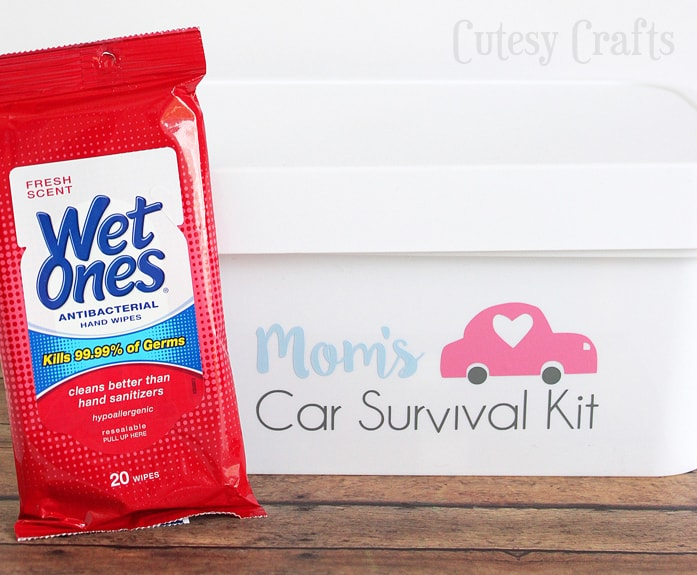 Mom's Car Survival Kit #GrabAWetOnes #ad