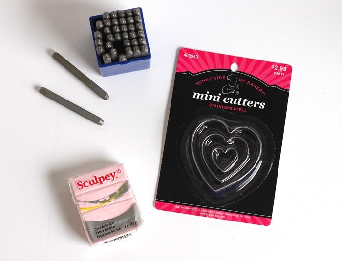 Clay Conversation Heart DIY Hair Bows